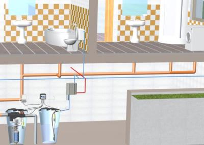 Recyklace šedé vody v rodinném domě